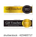 vector gift voucher template...   Shutterstock .eps vector #425485717