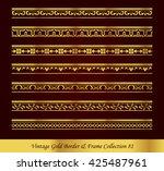 vintage gold border frame... | Shutterstock .eps vector #425487961