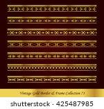 vintage gold border frame... | Shutterstock .eps vector #425487985