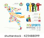 sports template design... | Shutterstock .eps vector #425488099