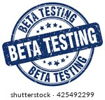 beta testing. stamp | Shutterstock .eps vector #425492299