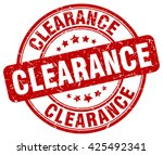 clearance. stamp | Shutterstock .eps vector #425492341