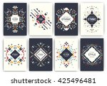 set of geometric abstract... | Shutterstock .eps vector #425496481