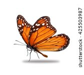Stock photo beautiful monarch butterfly isolated on white background 425503987