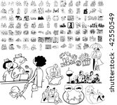 family set of black sketch.... | Shutterstock .eps vector #42550549