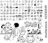 family set of black sketch.... | Shutterstock .eps vector #42550549