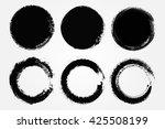 grunge circles.grunge round... | Shutterstock .eps vector #425508199