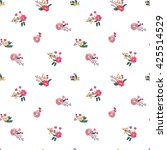 floral seamless pattern with... | Shutterstock .eps vector #425514529