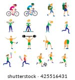 a set of people with different... | Shutterstock .eps vector #425516431