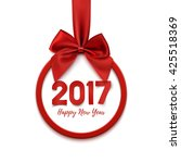 happy new year 2017 round... | Shutterstock .eps vector #425518369