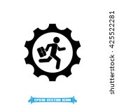 man in gear icon vector... | Shutterstock .eps vector #425522281