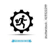 man in gear icon vector... | Shutterstock .eps vector #425522299