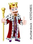 Cartoon King Wearing A Crown ...