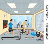 interior gym. fitness concept...   Shutterstock .eps vector #425525299