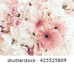 floral background. lot of pink... | Shutterstock . vector #425525809