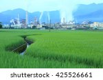 view of a chemical factory with ...