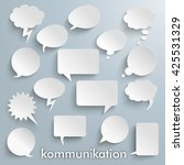 "german text ""kommunikation"" ... | Shutterstock .eps vector #425531329"