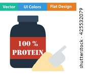 protein container icon.  | Shutterstock .eps vector #425532079