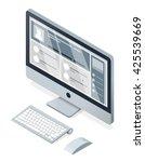 isometric vector modern... | Shutterstock .eps vector #425539669