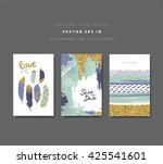 save the date  invitation cards ... | Shutterstock .eps vector #425541601