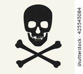 skull and crossbones on white... | Shutterstock .eps vector #425545084