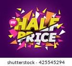 half price sale concept with... | Shutterstock .eps vector #425545294