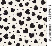 seamless monochrome pattern... | Shutterstock .eps vector #425549641