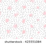 seamless pattern with pink ... | Shutterstock .eps vector #425551084