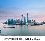 beautiful shanghai skyline with ... | Shutterstock . vector #425564629