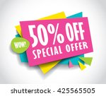 special offer sale concept... | Shutterstock .eps vector #425565505