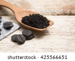 activated carbon on white | Shutterstock . vector #425566651