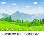 summer landscape with meadows...