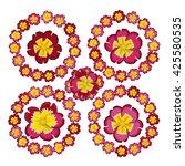 Set Of Four Floral Frames....