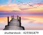 sunset lake | Shutterstock . vector #425581879