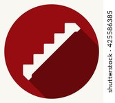 down staircase icon vector