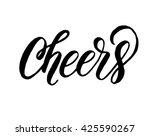cheers  hand written elegant... | Shutterstock .eps vector #425590267