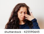 woman crying | Shutterstock . vector #425590645