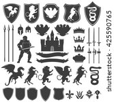 heraldry decorative graphic... | Shutterstock .eps vector #425590765