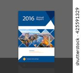 cover design for annual report... | Shutterstock .eps vector #425591329