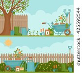 concept of gardening. garden... | Shutterstock .eps vector #425592544