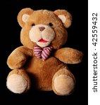 Brown Teddy Bear Over Black...
