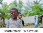 editorial use. children in... | Shutterstock . vector #425595001