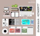 vector workplace businessman... | Shutterstock .eps vector #425600977