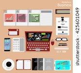 vector workplace businessman... | Shutterstock .eps vector #425601049