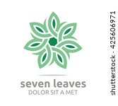 vector leaf seven with natural... | Shutterstock .eps vector #425606971