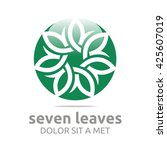 vector leaf seven with natural... | Shutterstock .eps vector #425607019
