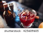 close up shot of fresh negroni... | Shutterstock . vector #425609605
