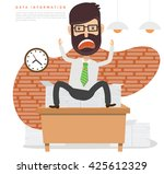 businessman employee concept... | Shutterstock .eps vector #425612329