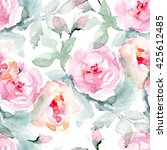 rose fabric background. vintage ... | Shutterstock . vector #425612485