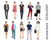style and casual people | Shutterstock .eps vector #425614069